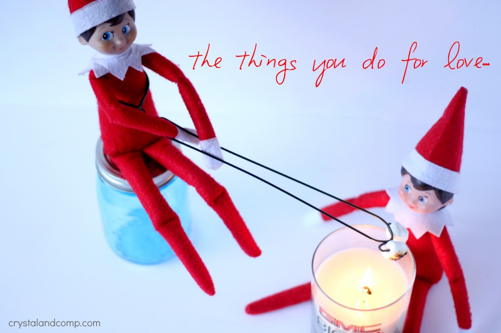 elf on the shelf candle light smores