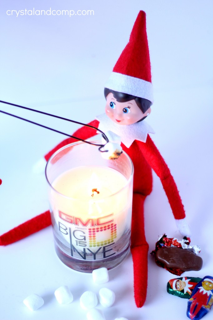 elf on the shelf chocolate candies are perfect for smores