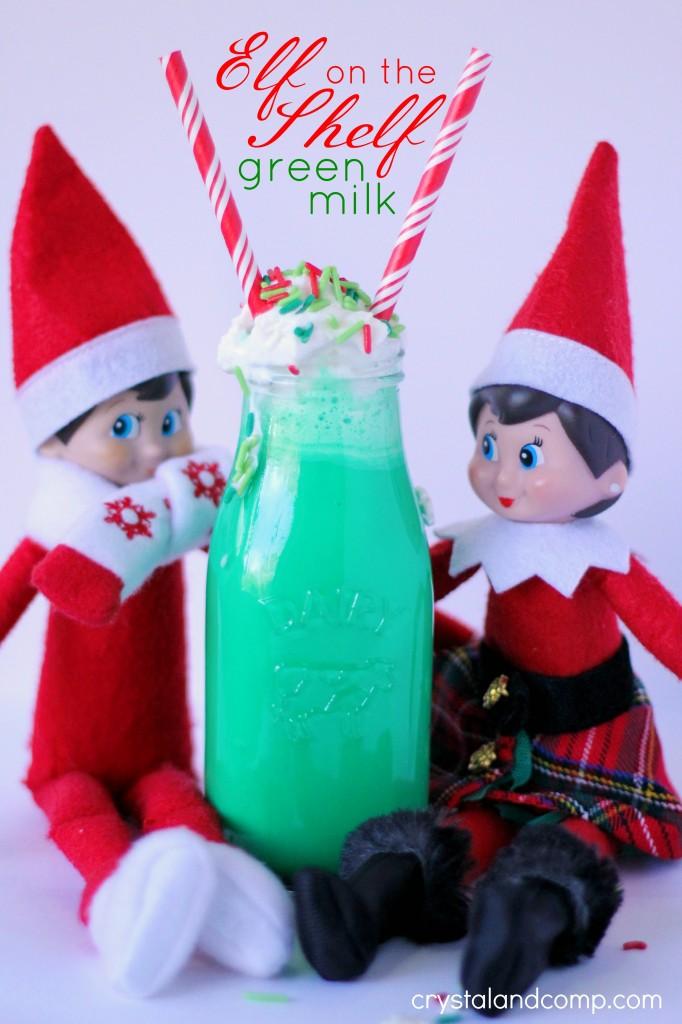 elf on the shelf green milk shake