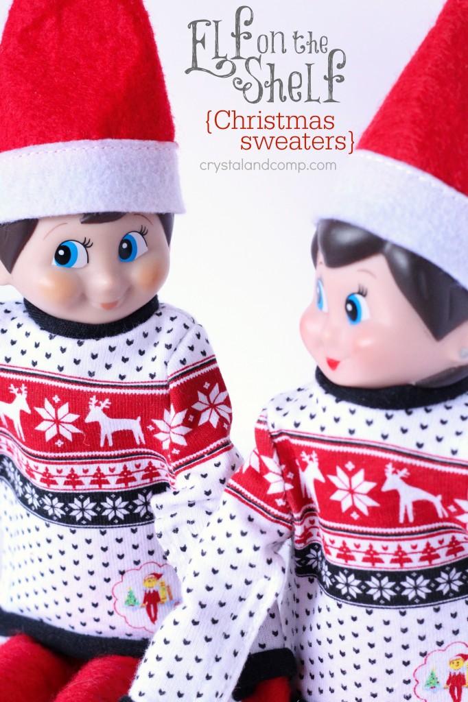 elf on the shelf ideas matching sweaters