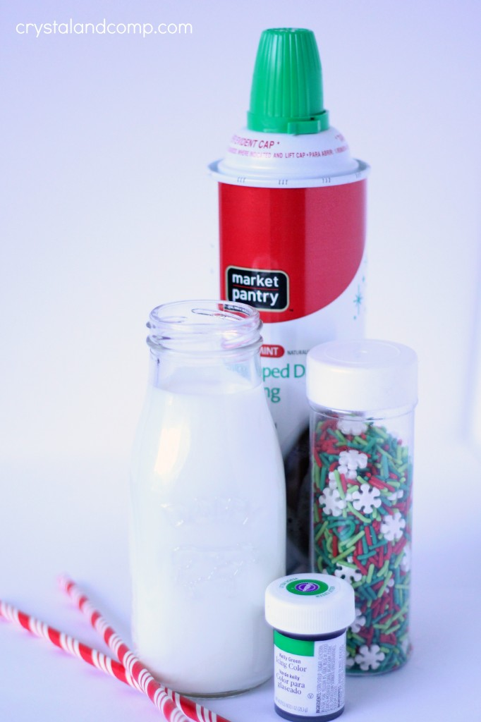 how to make a green chocolate milk shake for elf on the shelf