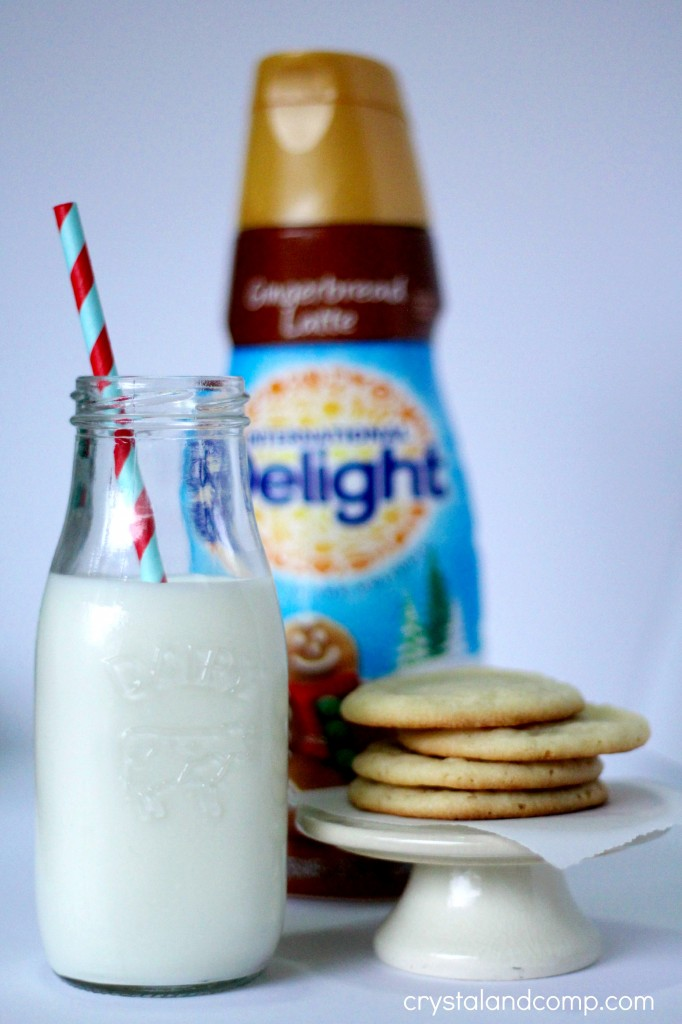 how to use international delight to make milk and cookies for santa