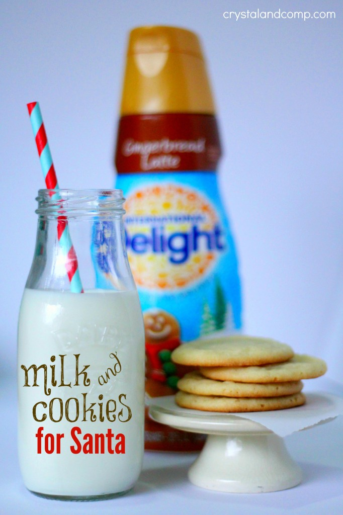milk and cookies for santa using coffee creamer