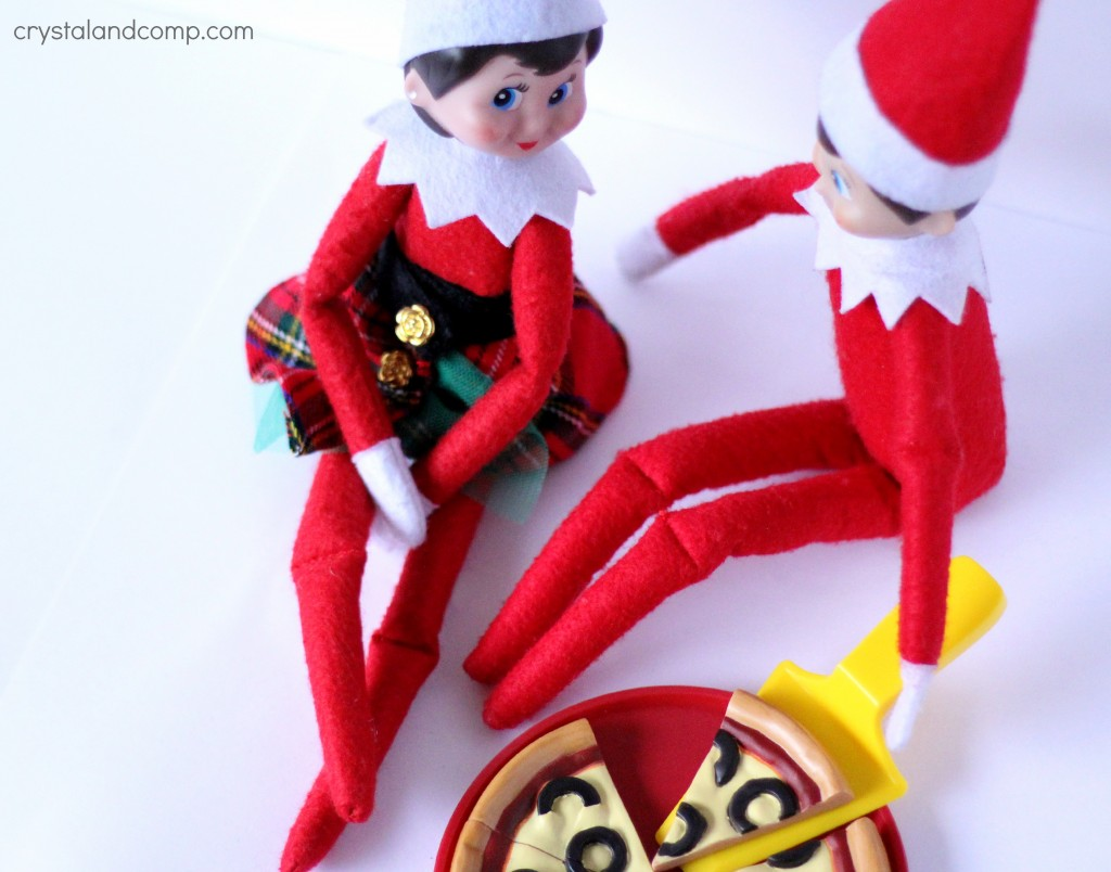 pizza date night for elf on the shelf