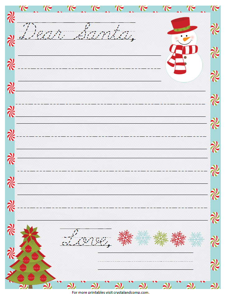 image regarding Santa Letters Printable called Printable Santa Letter