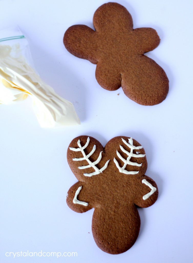 use a gingerbread man to make reindeer cookie cutters