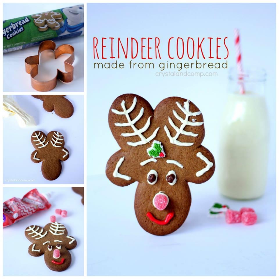 reindeer cookies from gingerbread man