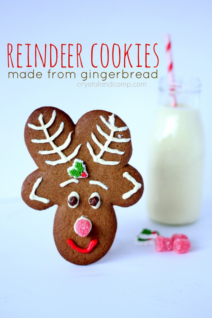 reindeer cookies made from gingerbread (perfect for santa)