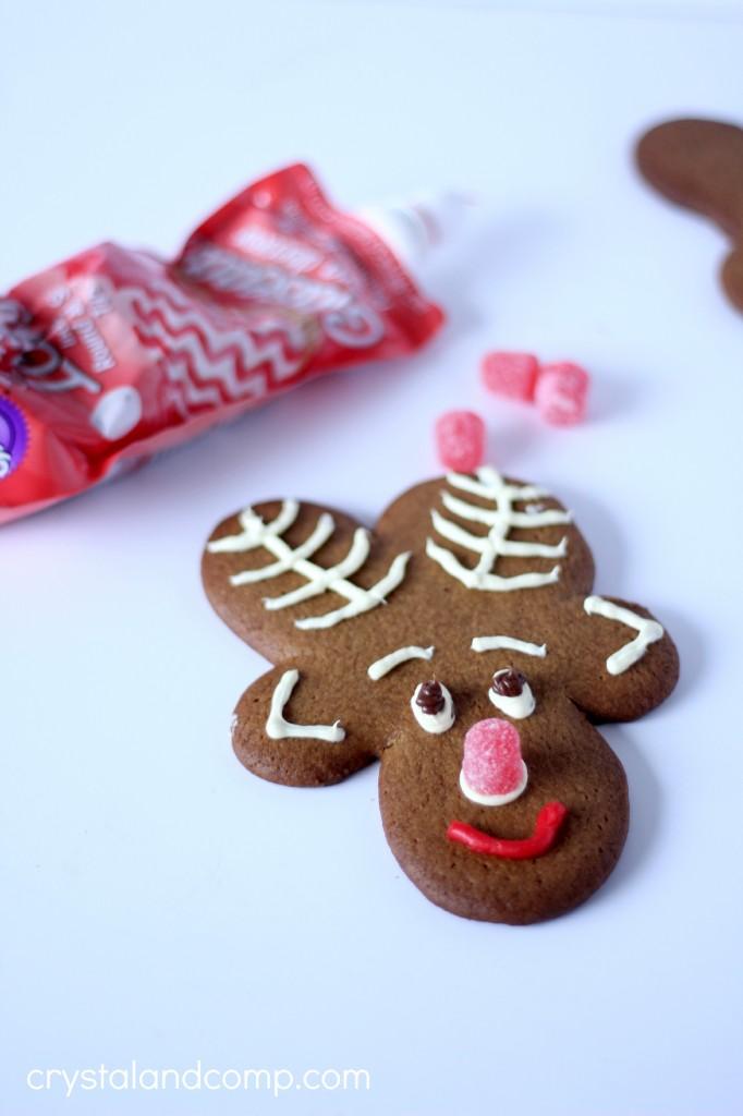 how to make upside down gingerbread reindeer cookies