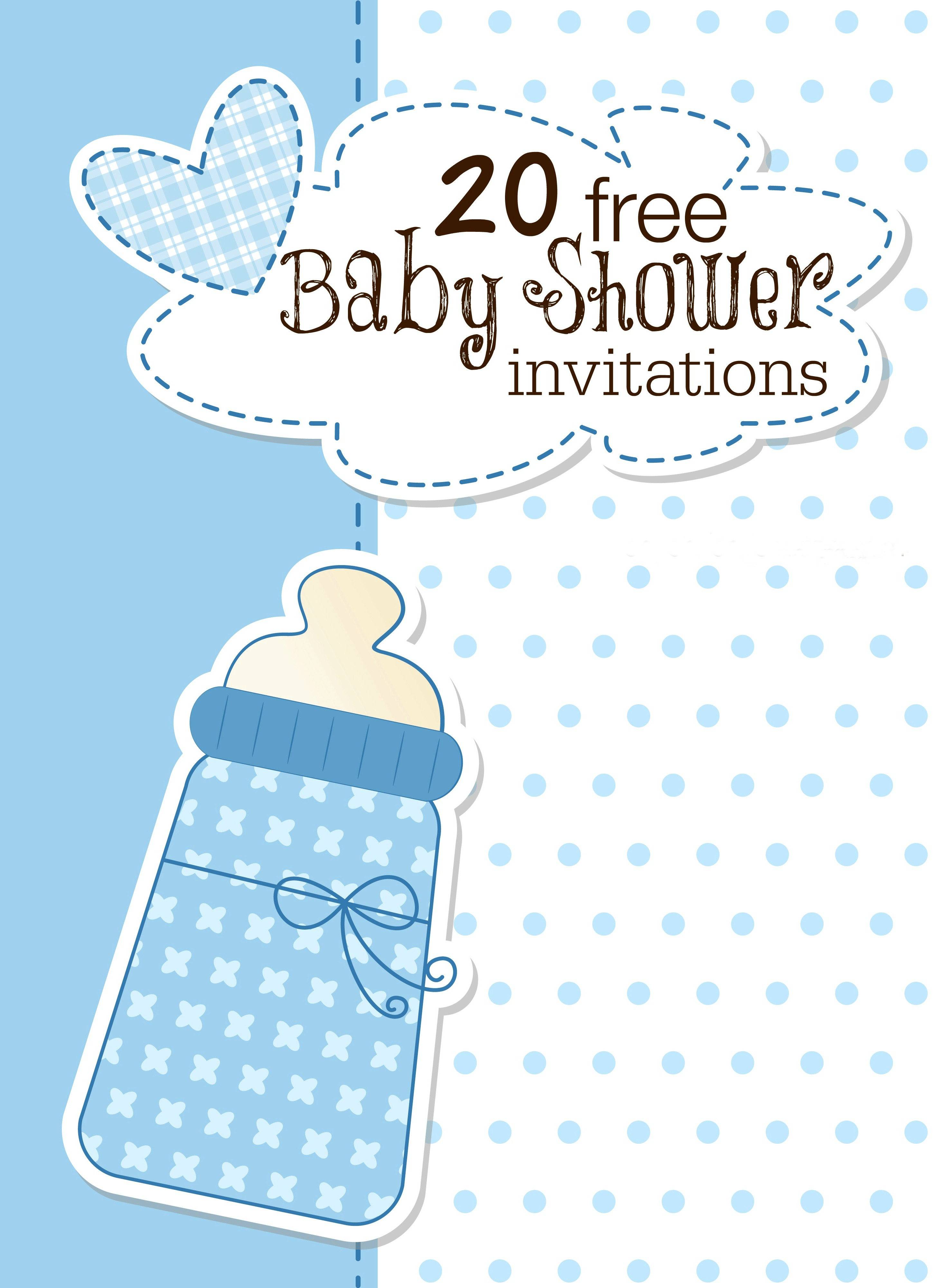 free baby shower invitation templates for boys