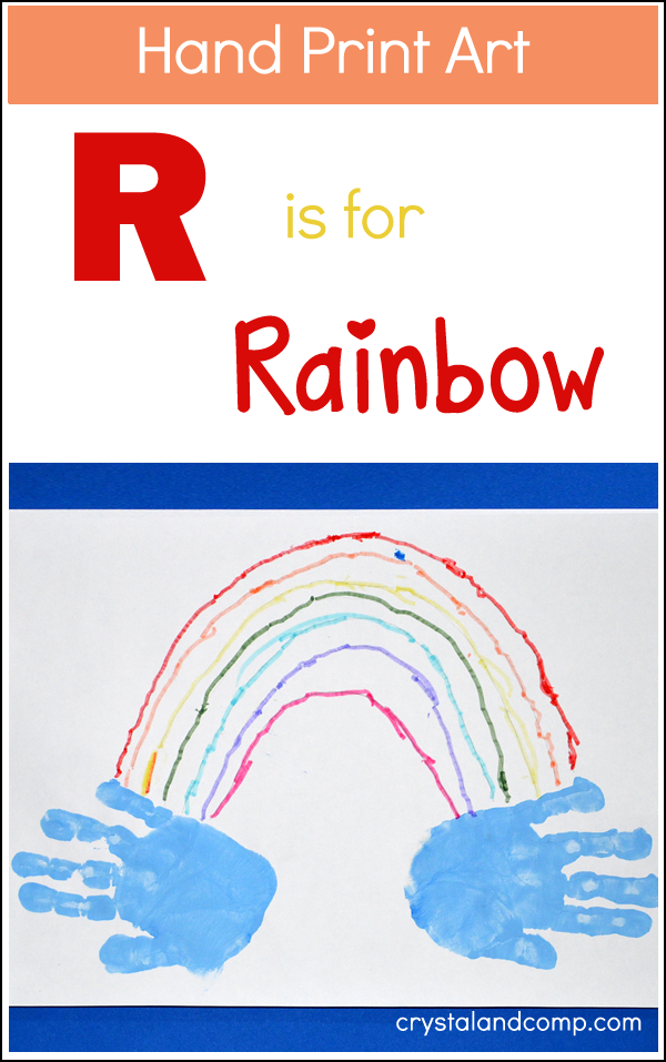 Hand Print Art: R is for Rainbow