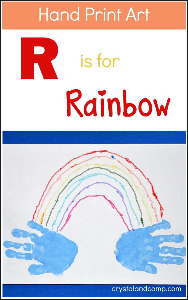 Hand Print Art: R is for Rainbow