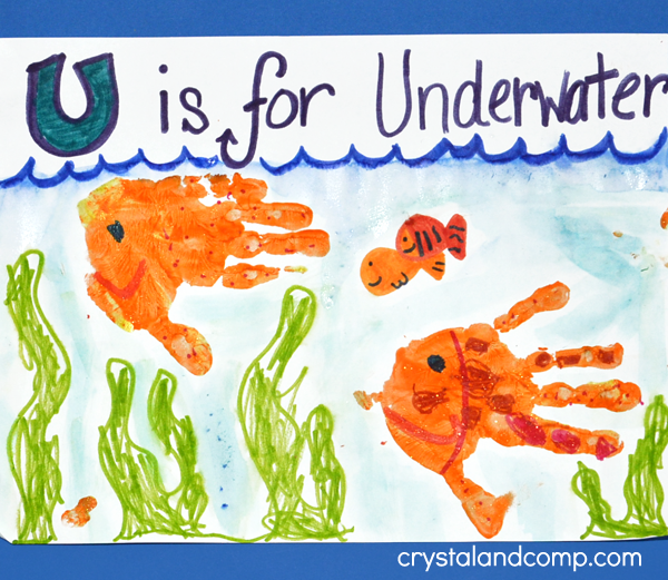 Hand Print Art: U is for Underwater