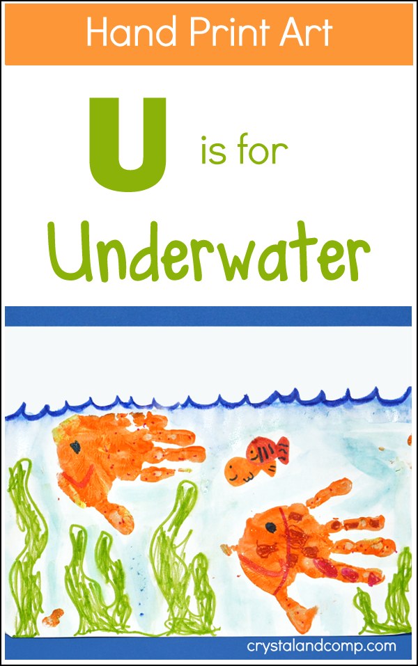 Hand Print Art - U is for Underwater