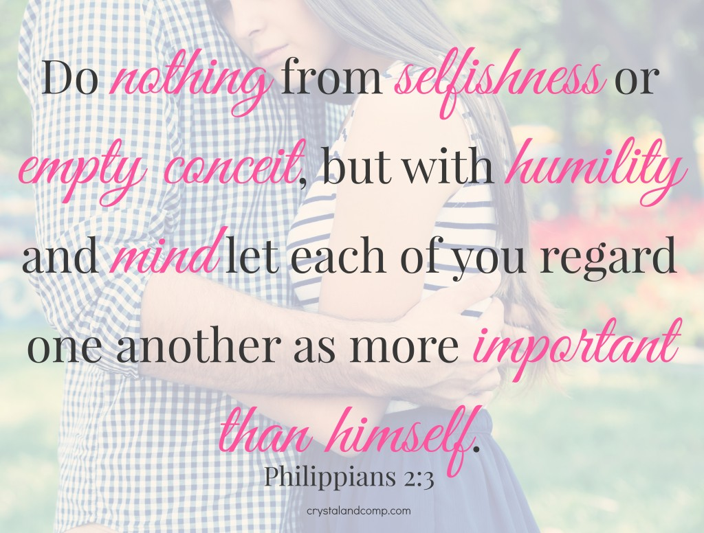 Philippians 2:3 applied in marriage