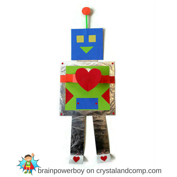 Learn your shapes with this fun robot craft