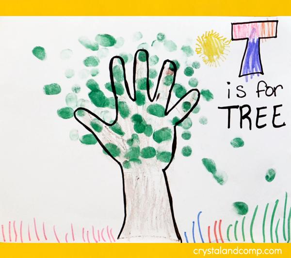 Hand Print Art Tree