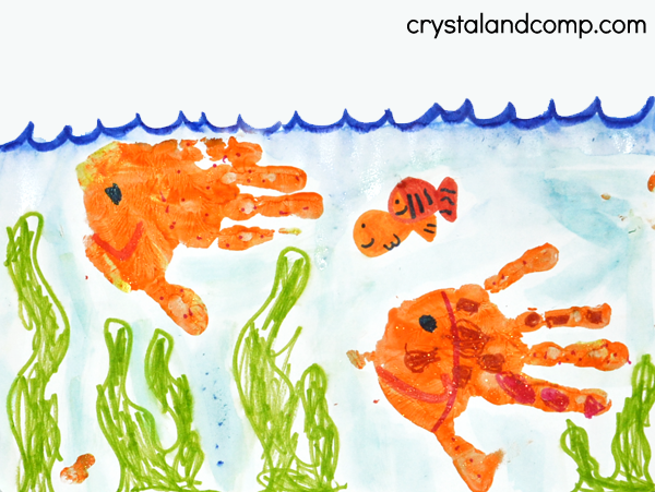 U is for Underwater Hand Print Art