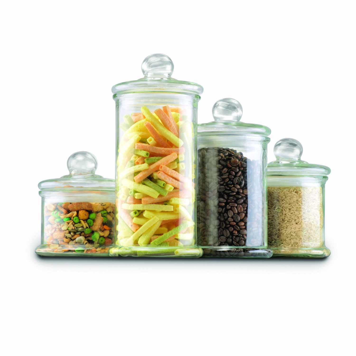4 piece glass canister set 28 94 crystalandcomp com glass kitchen canister sets 187 new home design