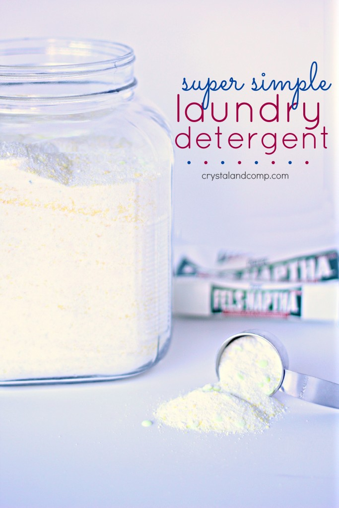 Recipe for Homemade Laundry Detergent using Fels Naptha Soap