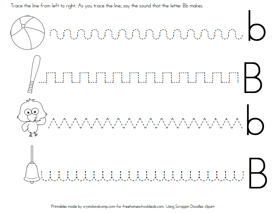 free letter b worksheets instant download line tracing for preschoolers