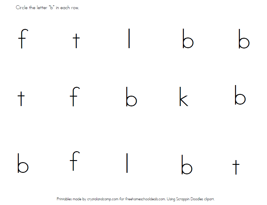 letter b worksheets instant download