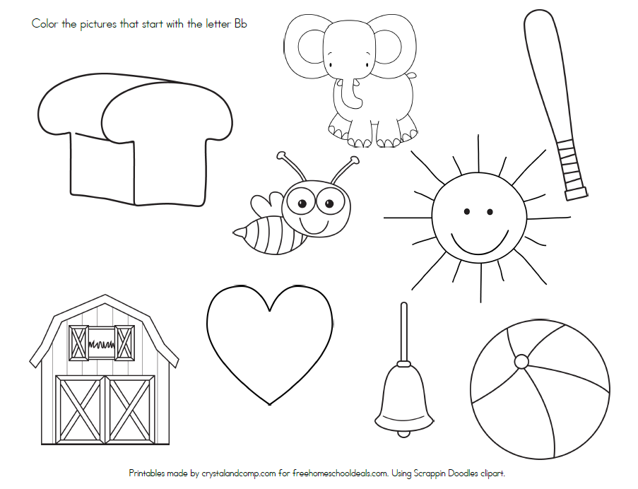 FREE LETTER B WORKSHEETS (instant download) | Free Homeschool Deals ©