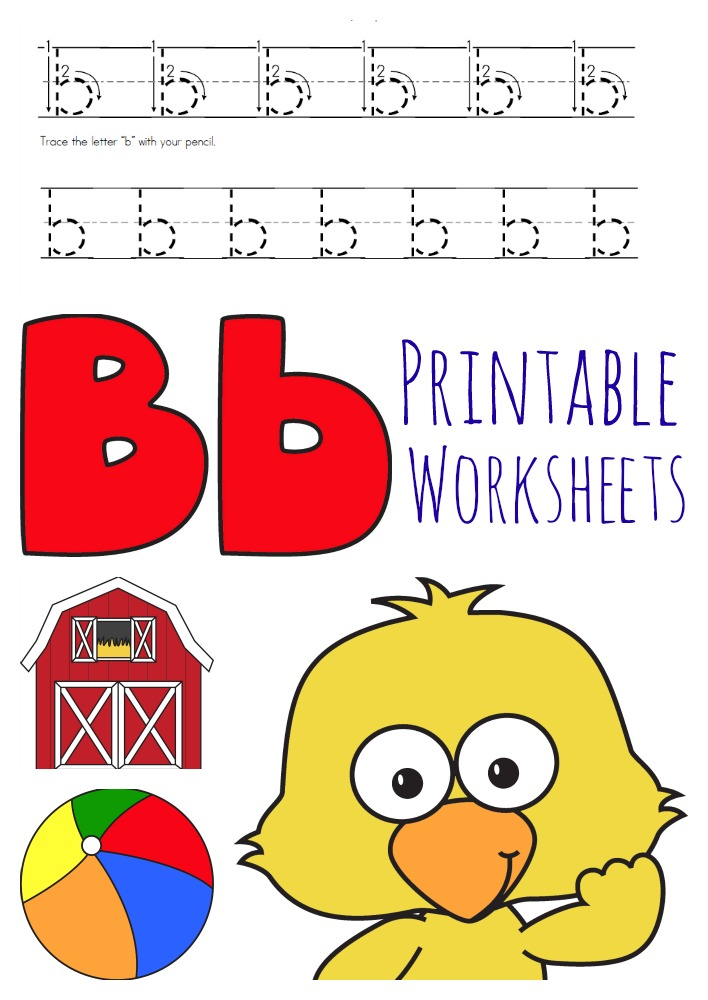 letter b printable worksheets for preschoolers