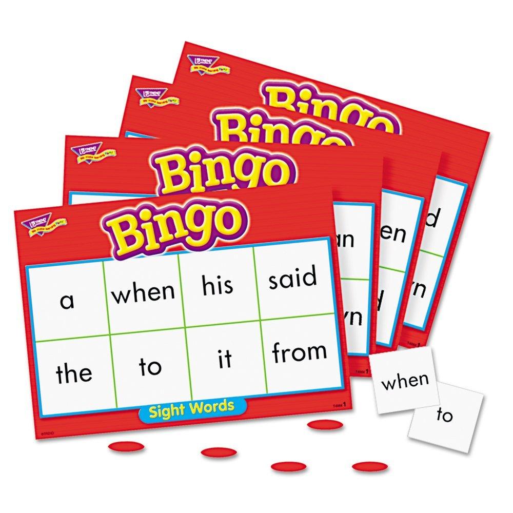 Bingo Cards Enterprises cards sight Sight Words Trend printable Flash bingo word