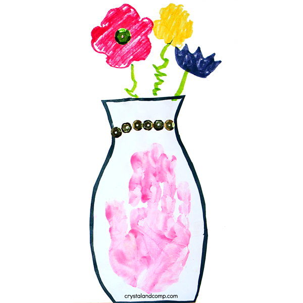 Hand Print Vase