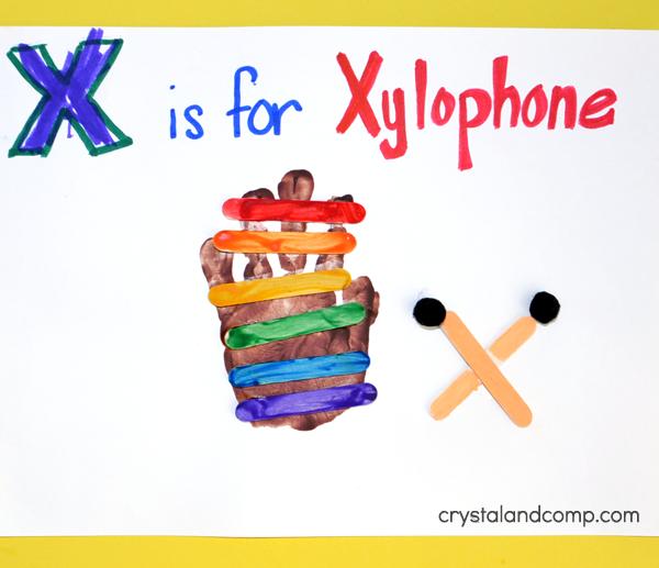 Hand Print Xylophone Craft