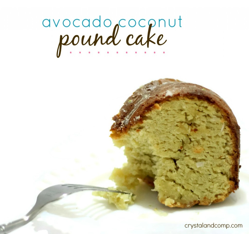 avocado coconut pound cake recipe