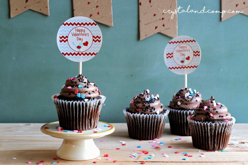 cupcake toppers for valentine party