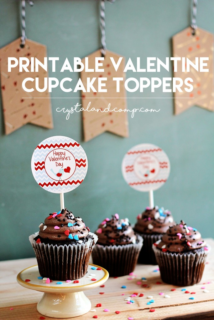 free printable cupcake toppers for valentines day