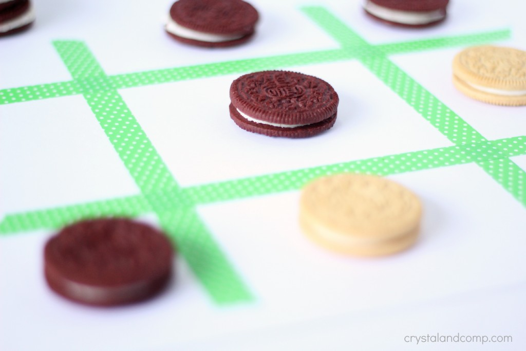 how to play tic tac toe with cookies