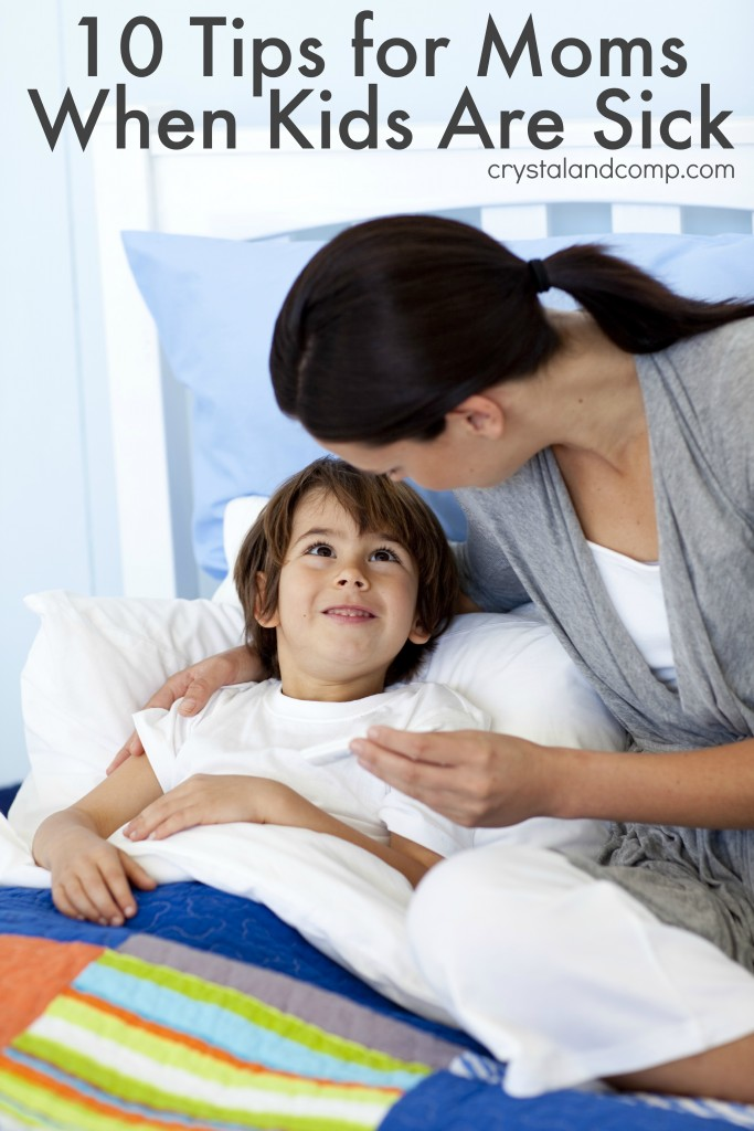 tips for moms when kids are sick