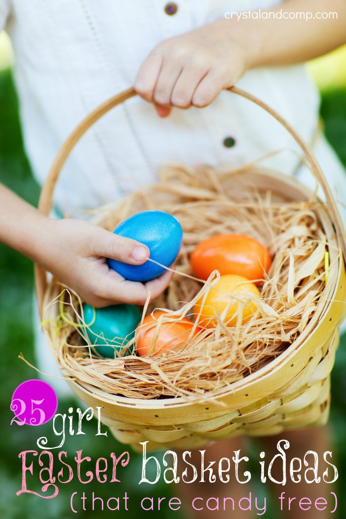 girl easter baskets that are candy free