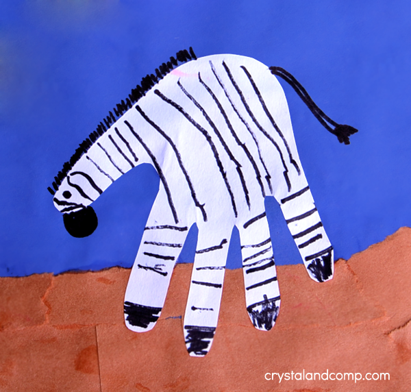Hand Print Art - Z is for Zebra