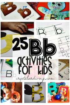 letter b activities for kids