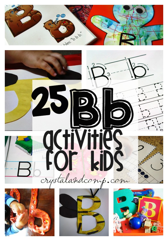 letter b activities for kids