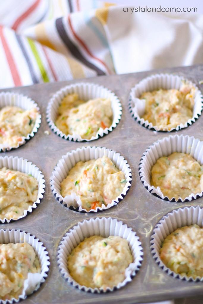 savory muffin batter