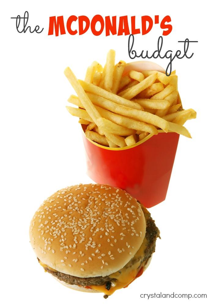 the mcdonalds budget