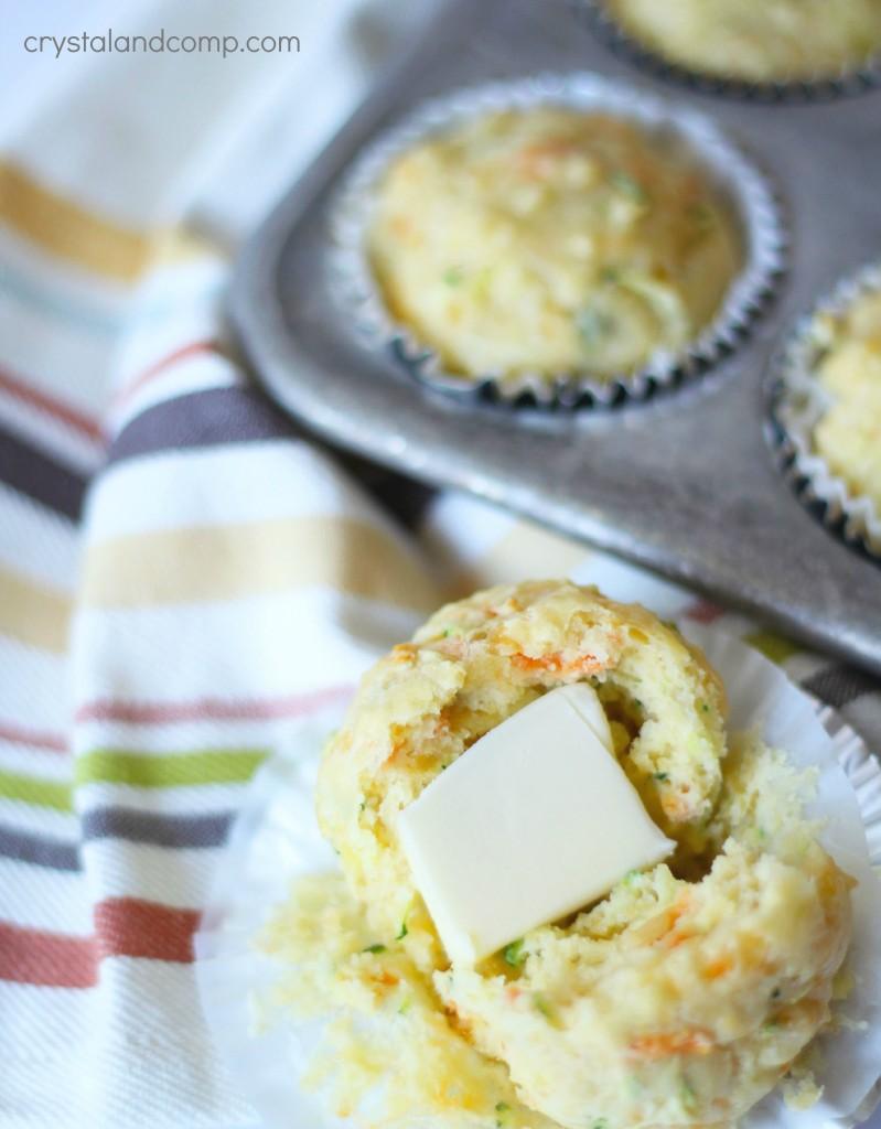 veggie cheddar homemade muffins