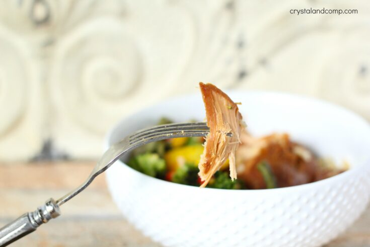Freezer Meal Ideas: Slow Cooker Pineapple Chicken