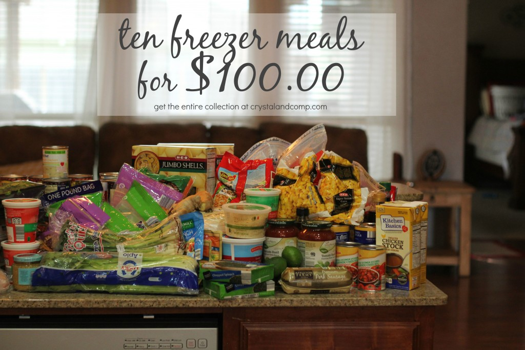 freezer meal planning 10 meals for $100
