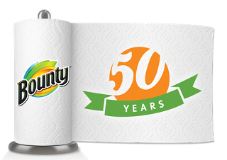 Bounty 50th_Paper Towel Roll