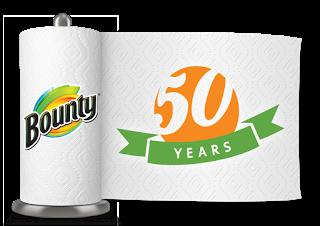 Bounty 50th_Paper Towel Roll