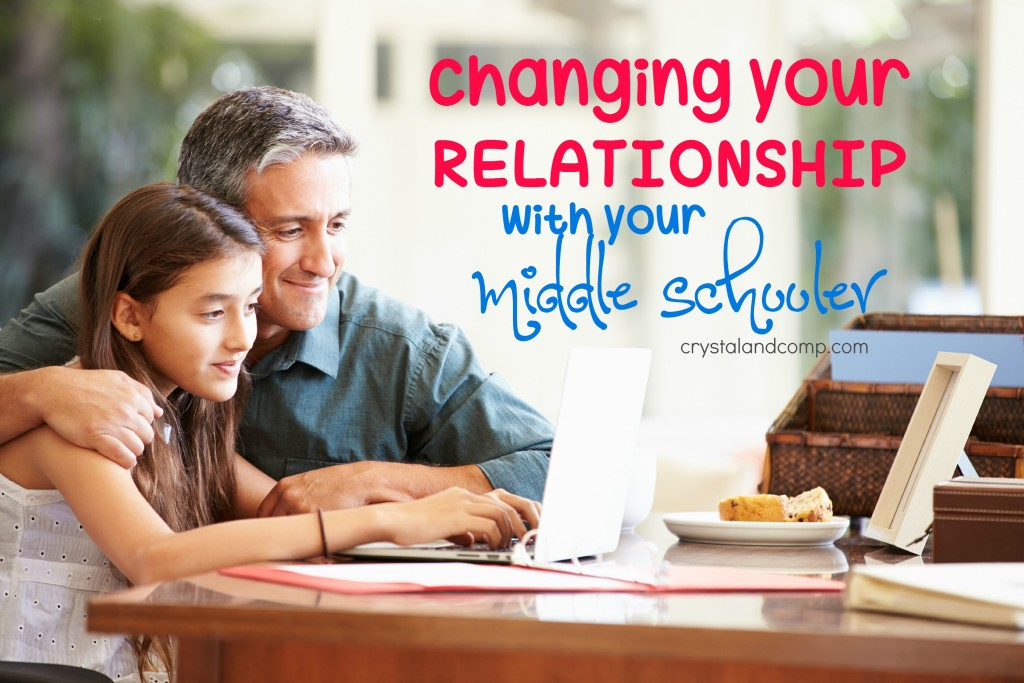 changing your relationship with your middle schooler