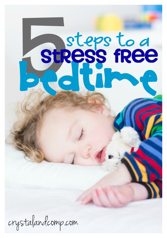 5 steps to a stress free bedtime