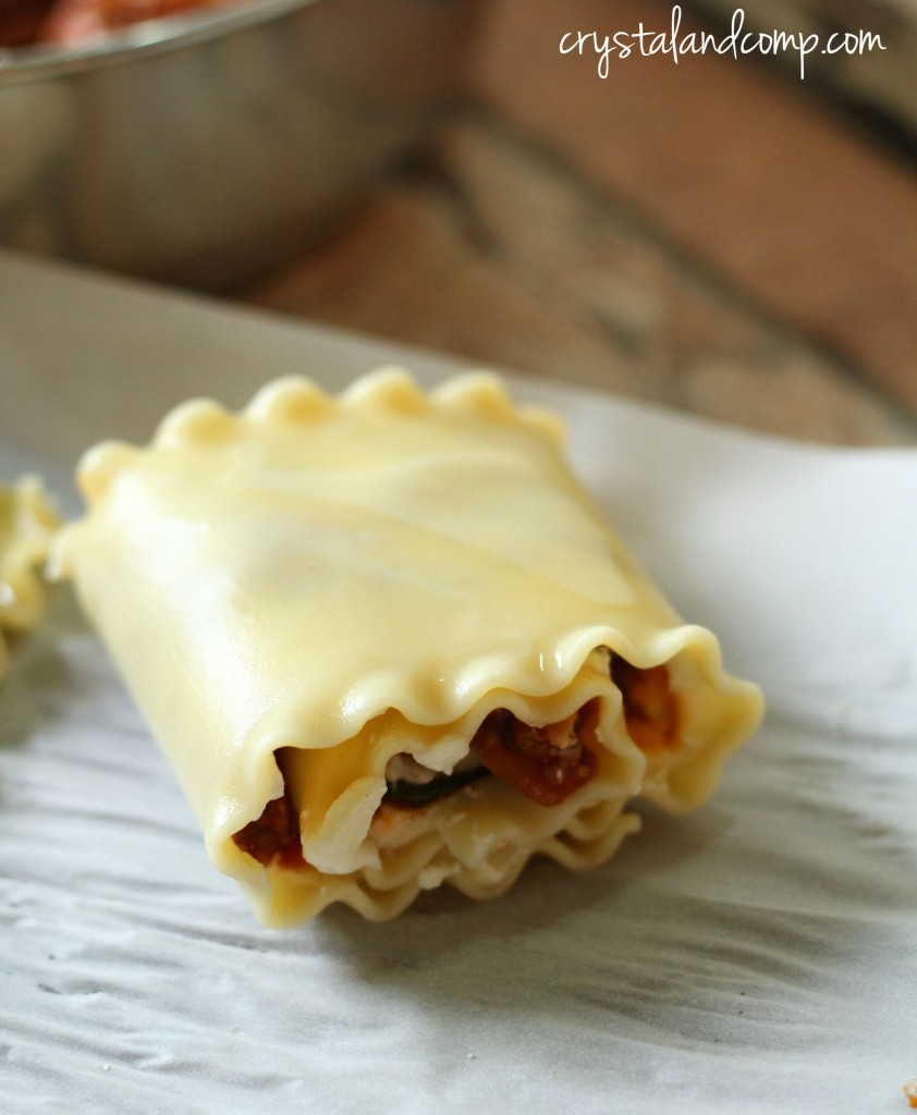 how to make a lasagna roll up